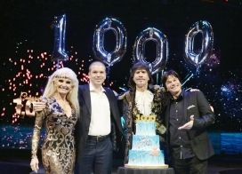 With Silvia Silvia, Victor Ponce & Hanoch Rosenn at WOW's 1000th Show in Las Vegas