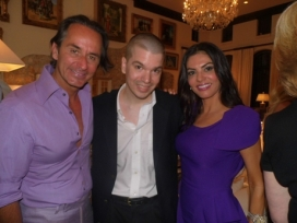 With Adriana Demoura Frederic Marq of The Real Housewives of Miami