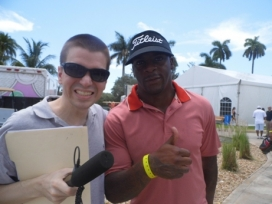 With NFL Great Clinton Portis