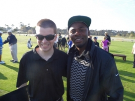 With Actor Derek Luke