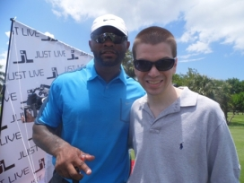 With NFL Great Fred Taylor