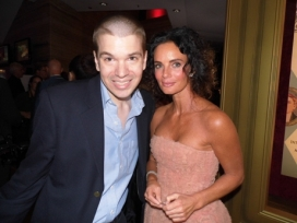 With Actress Gabrielle Anwar