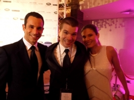 With 3 Time Indy 500 Winner Helio Castroneves and Adriana Henao