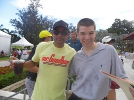 With Actor Hill Harper