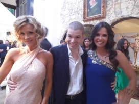 With Joanna Krupa and Karent Sierra of The Real Housewives of Miami