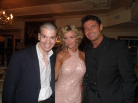 With Joanna Krupa and Romain Zago of The Real Housewives of Miami