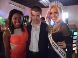 With Miss Florida USA 2013 Michelle Augirre and Stephanie Jacques
