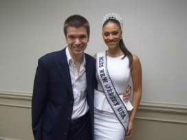 With Miss New Jersey 2013 Libell Duran