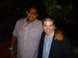With Actor Omar Benson Miller