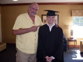 With Jake The Snake Roberts at 2009 College Graduation
